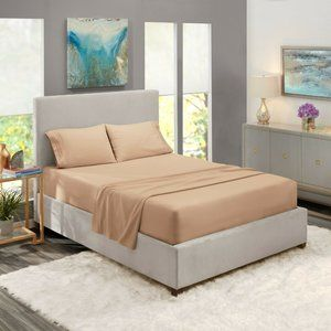 Sand Egyptian Comfort Bed Sheets 4 Piece! Sale!